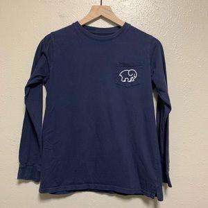 Ivory Ella navy blue long sleeve shirt